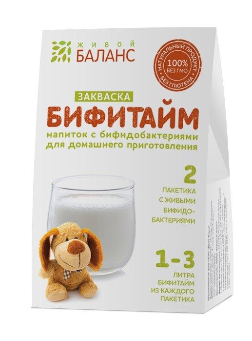 Закваска с пробиотиками Бифитайм  «Живой Баланс»